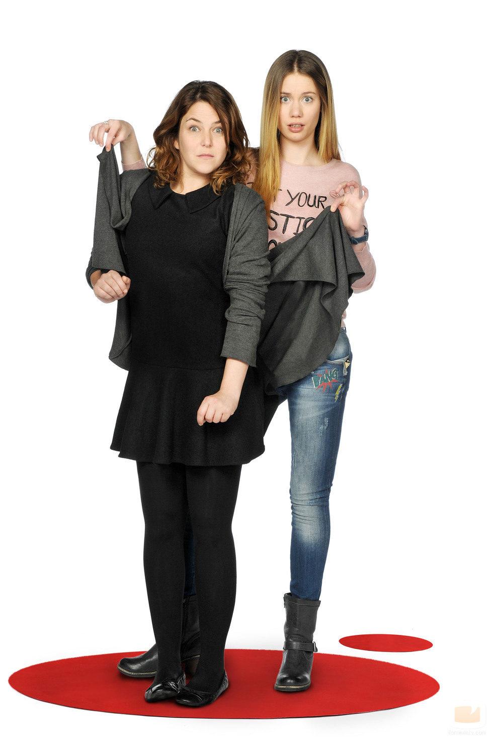 Lucía e Irene, personajes de la serie 'Ciega a citas'