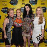 Tina Majorino, Kristen Bell, Krysten Ritter y Amanda Noret en el preestreno de 'Veronica Mars'