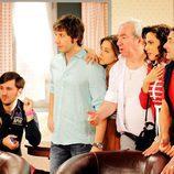 Jorge, Ángel, Sandra, Paulino, Sonsoles y José Luis en la tercera temporada de 'Con el culo al aire'