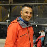 Rafa Lomana, concursante de 'Supervivientes 2014', en el aeropuerto