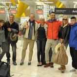 Los nuevos náufragos de 'Supervivientes 2014' se encuentran antes de partir a Honduras