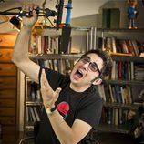Berto Romero con el micrófono de 'MovieBerto'