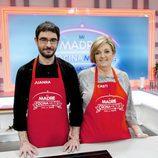 Juanra Bonet y su madre en 'Mi madre cocina mejor que la tuya'