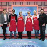 Juanra, Luján y sus madres en 'Mi madre cocina mejor que la tuya'