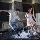 """Ruth Lorenzo junto con el bailarín Giuseppe Di Bella en el videoclip de """"Dancing in the rain"""""""