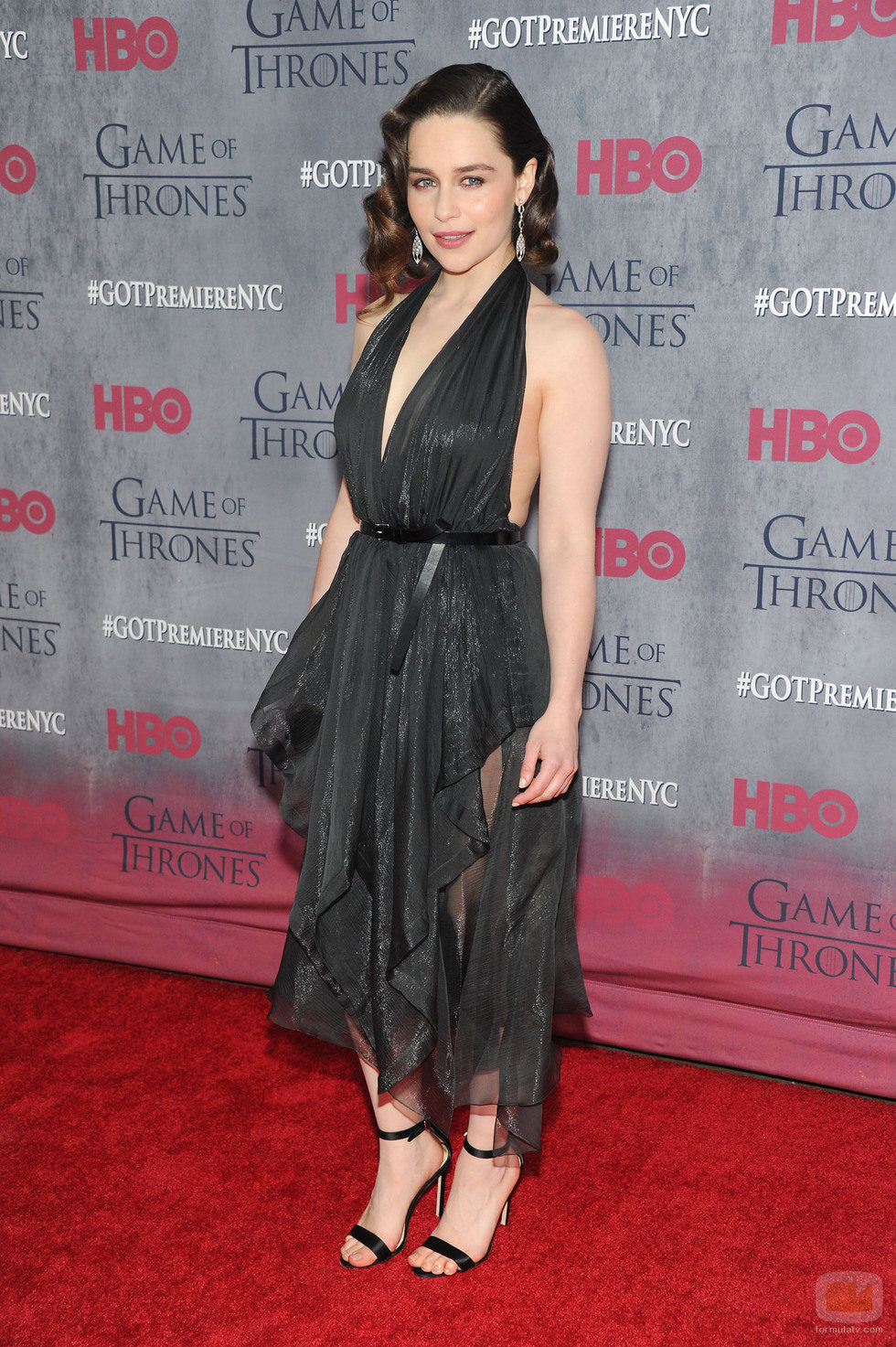 Emilia Clarke en la premiere de la cuarta temporada de 'Juego de tronos'