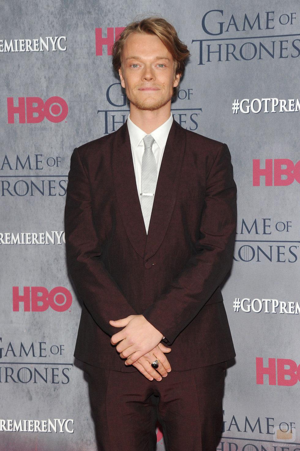 Alfie Allen en la premiere de la cuarta temporada de 'Juego de tronos'