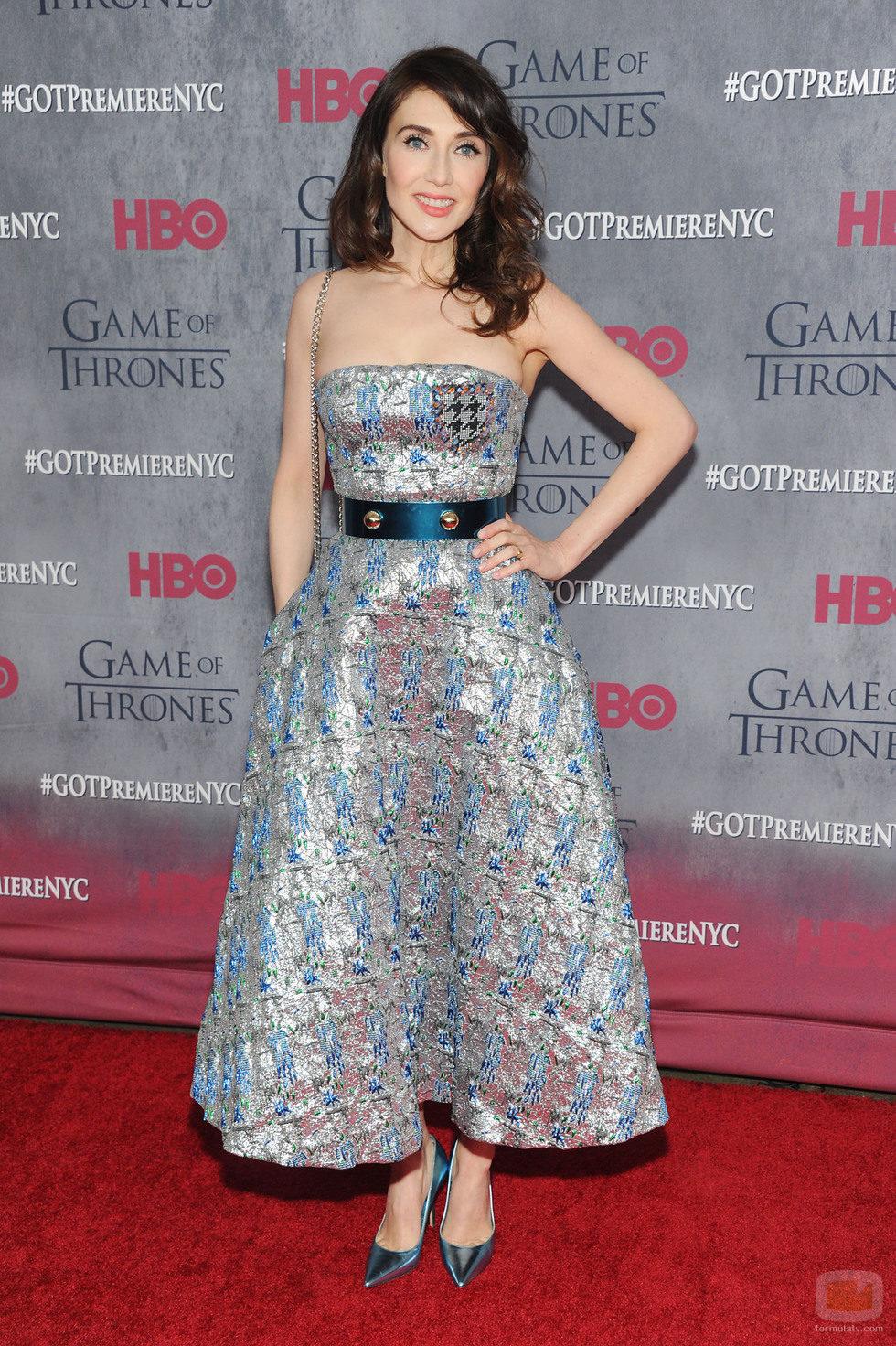 Carice van Houten en la premiere de la cuarta temporada de 'Juego de tronos'