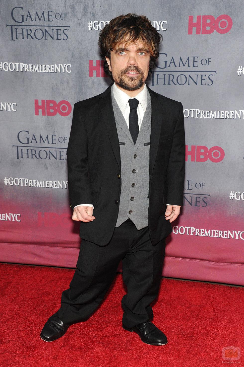 Peter Dinklage en la premiere de la cuarta temporada de 'Juego de tronos'