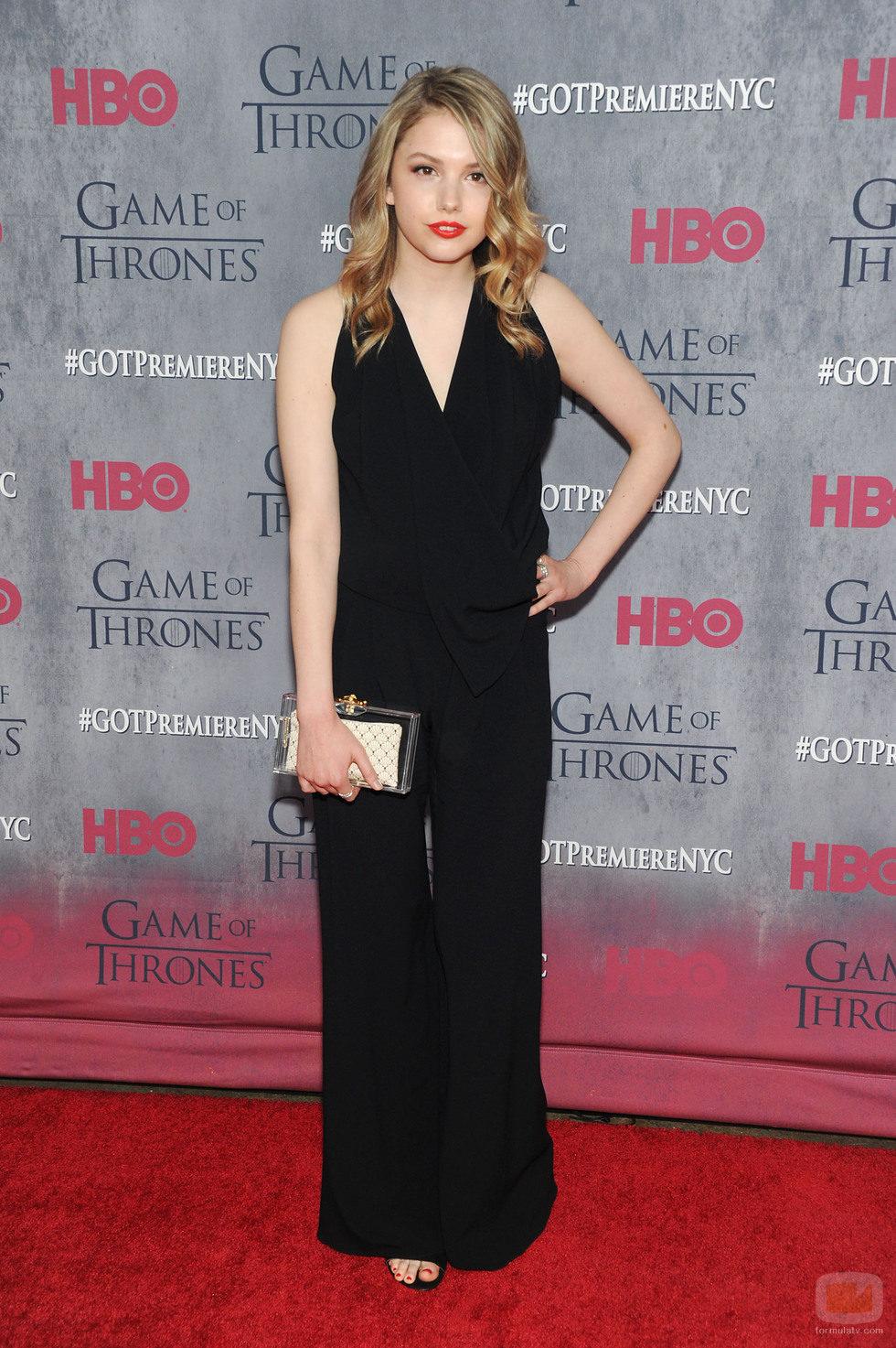 Hannah Murray en la premiere de la cuarta temporada de 'Juego de tronos'