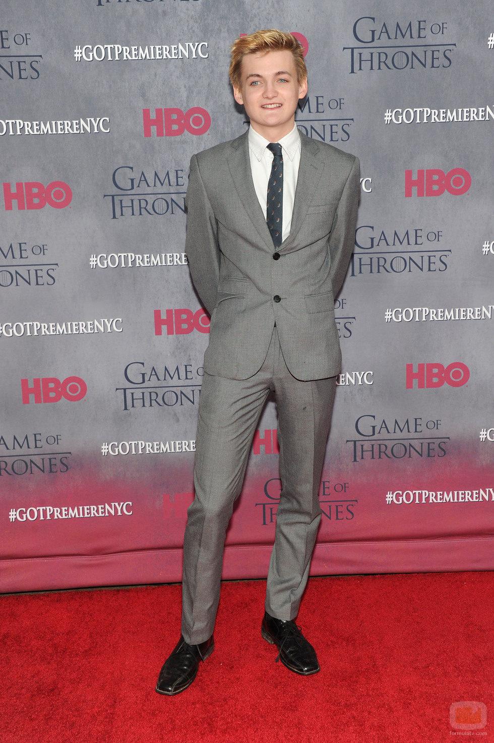 Jack Gleeson en la premiere de la cuarta temporada de 'Juego de tronos'