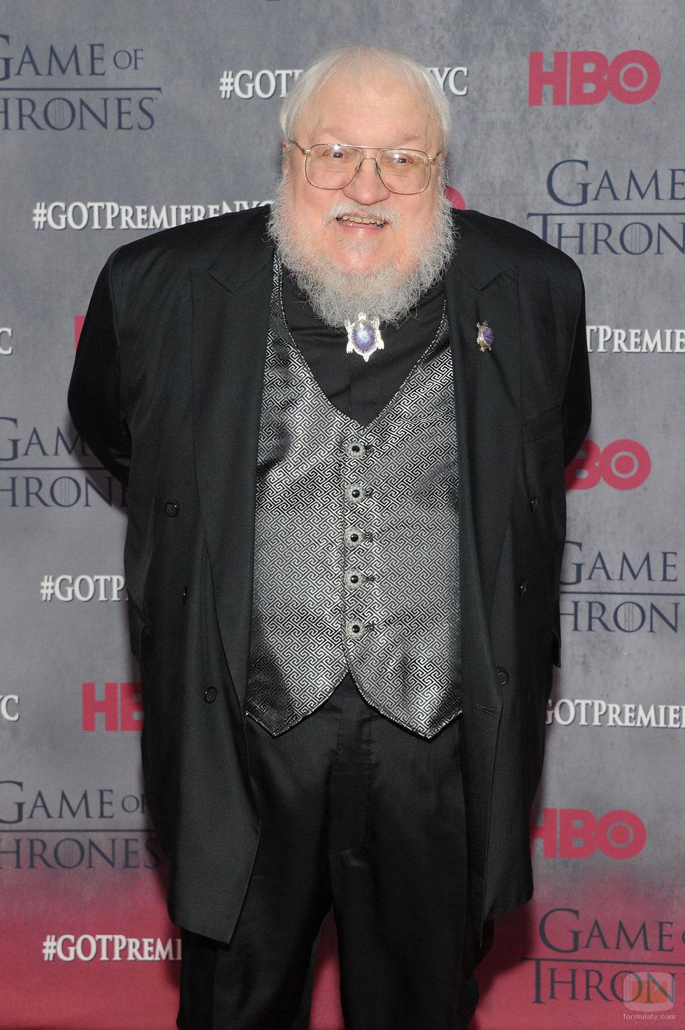 George RR Martin en la premiere de la cuarta temporada de 'Juego de tronos'