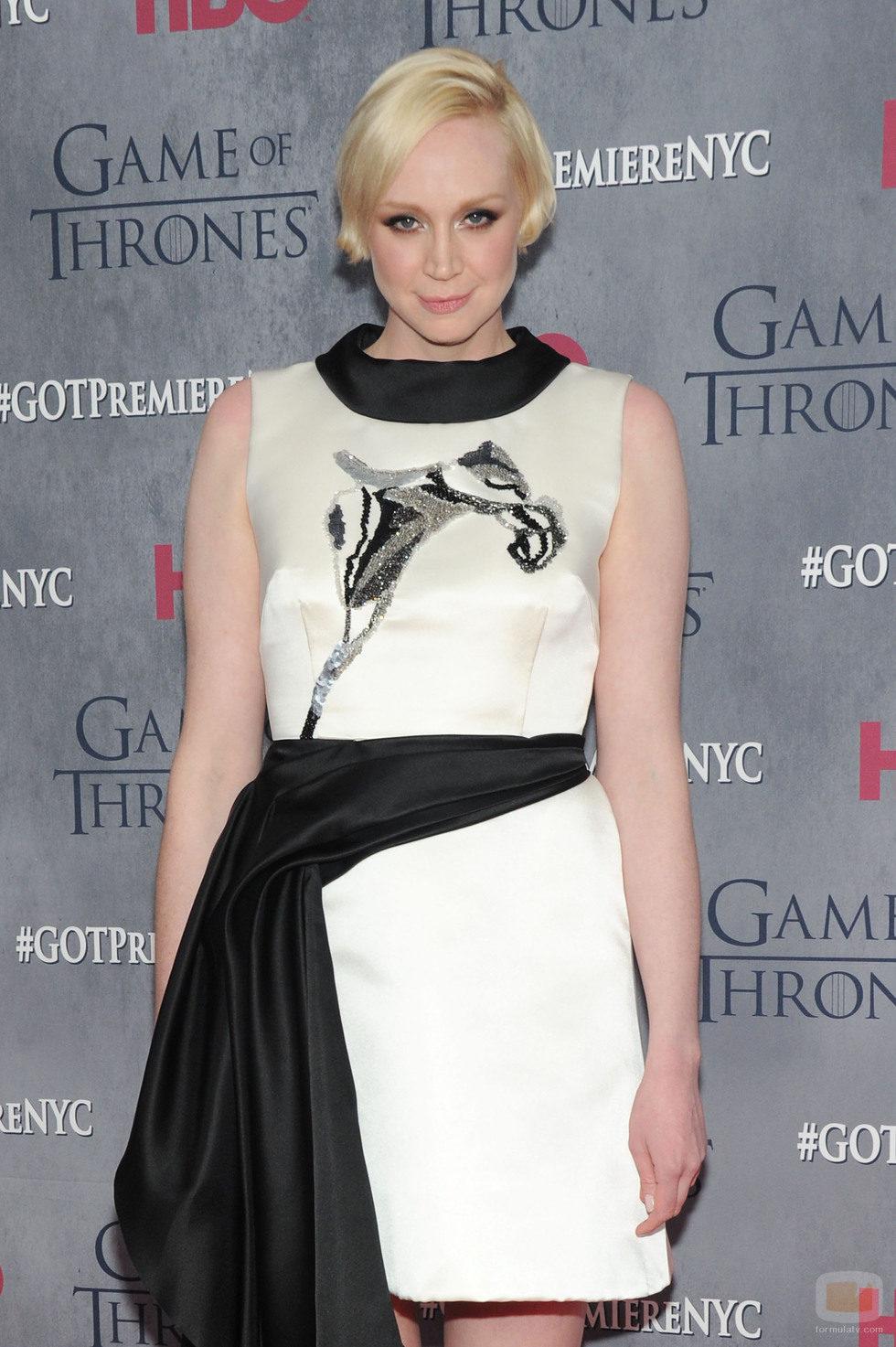 Gwendoline Christie en la premiere de la cuarta temporada de 'Juego de tronos'
