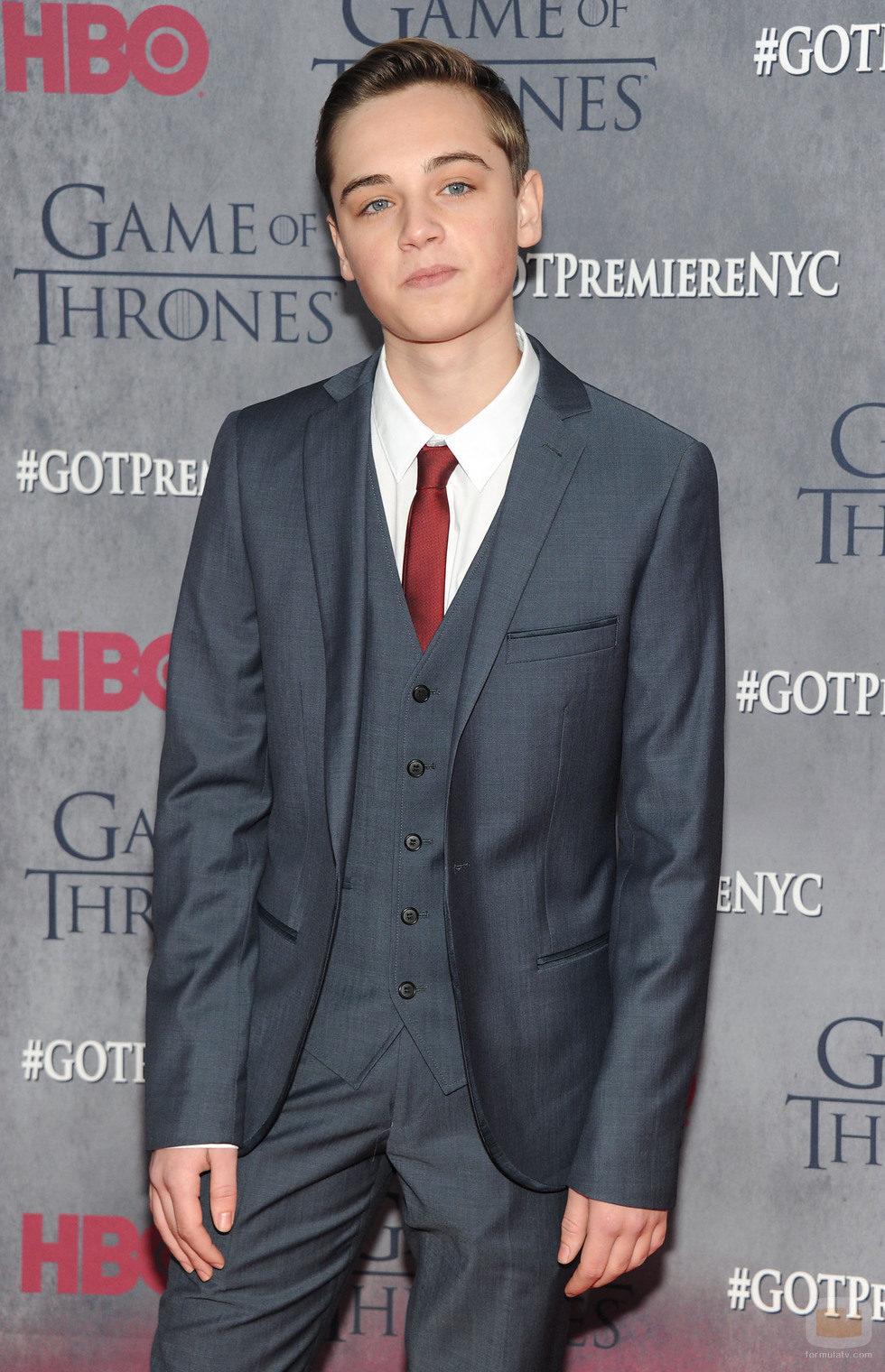 Dean-Charles Chapman en la premiere de la cuarta temporada de 'Juego de tronos'