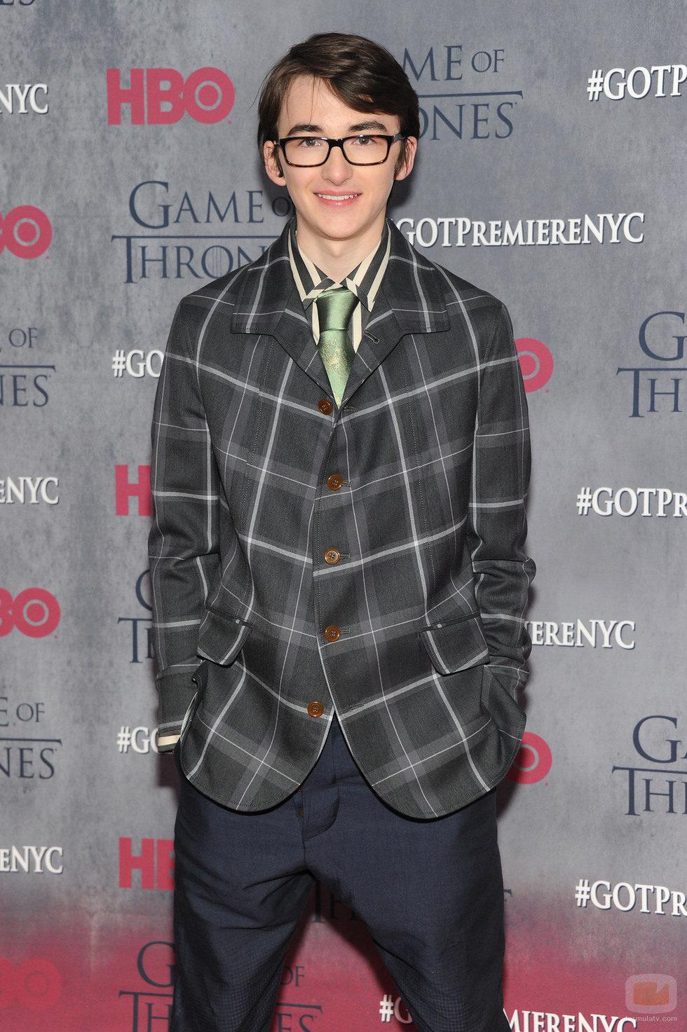 Isaac Hempstead-Wright en la premiere de la cuarta temporada de 'Juego de tronos'