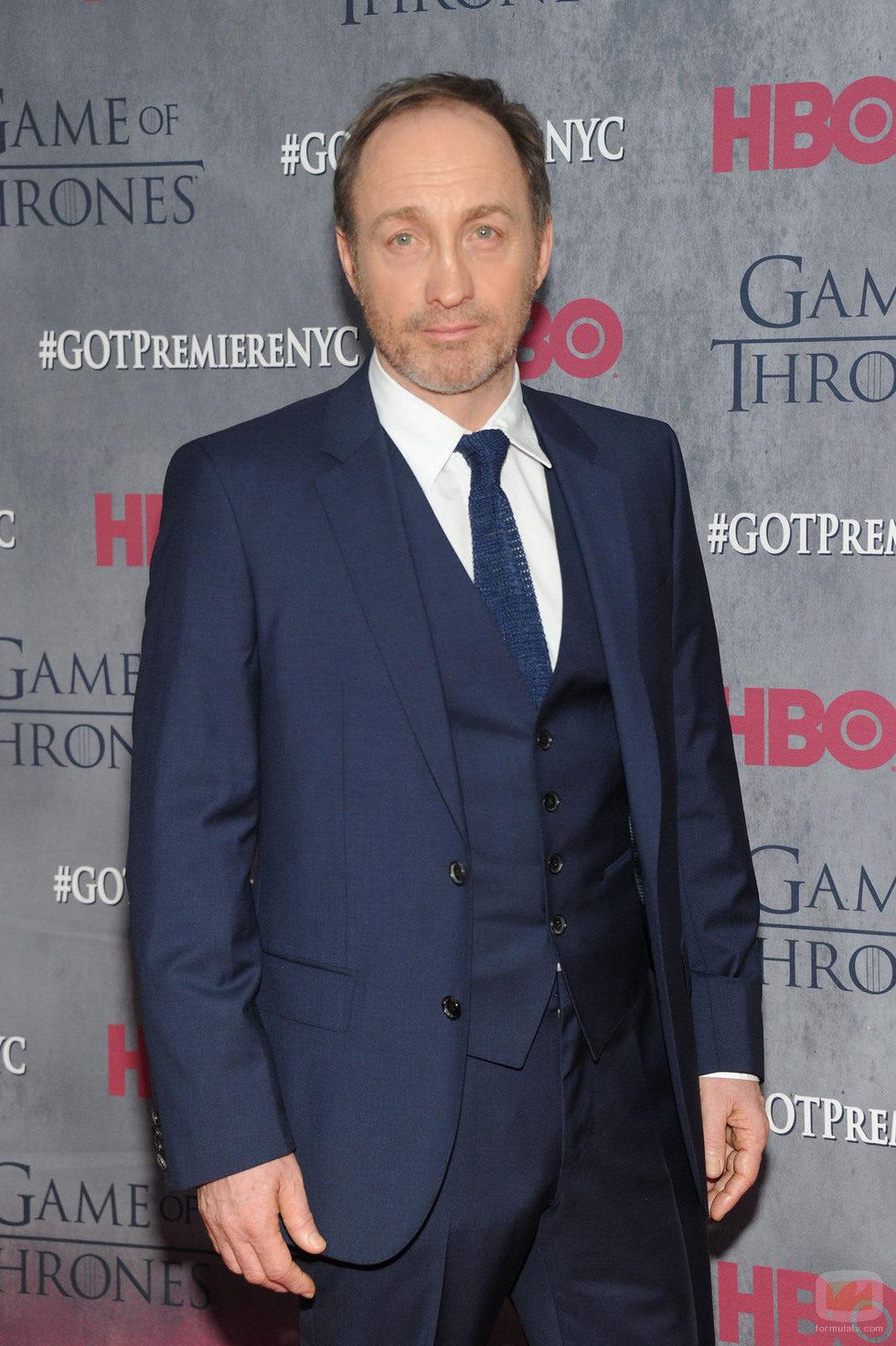 Michael McElhatton en la premiere de la cuarta temporada de 'Juego de tronos'