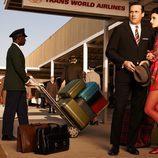 Jon Hamm y Jessica Paré, el matrimonio Draper en la séptima temporada de 'Mad Men'