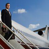 Don Draper (Jon Hamm), protagonista de 'Mad Men', desembarca del avión