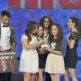 María Parrado recibe el premio de 'La Voz Kids'