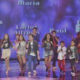 Auryn canta con los finalistas de 'La Voz Kids'