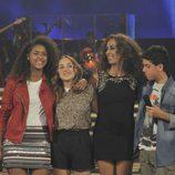 Rosario con los finalistas de su equipo