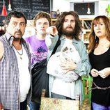 Tino, Javi, Rubén y Alicia en la tercera temporada de 'Con el culo al aire'