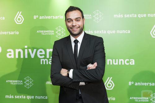 Antonio Esteva en el 8º aniversario de laSexta