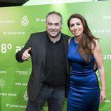 Antonio García Ferreras e Inés García en el 8º aniversario de laSexta