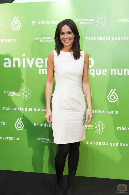 Cristina Saavedra en el 8º aniversario de laSexta