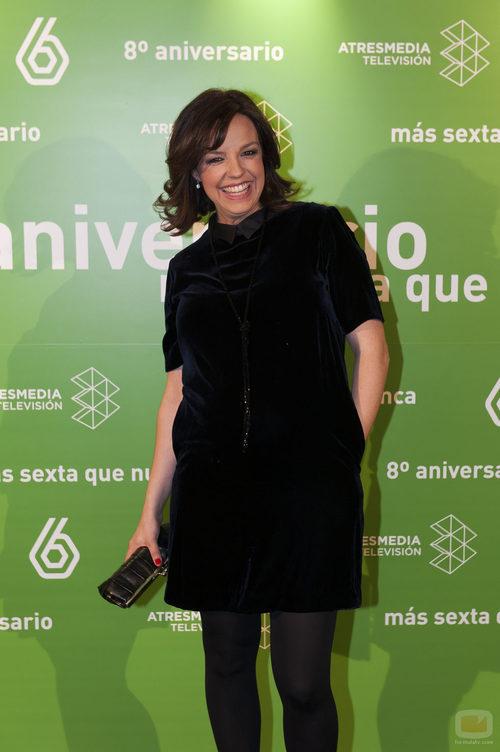 Cristina Villanueva en el 8º aniversario de laSexta