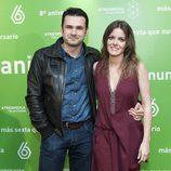 Iñaki López y Andrea Ropero en el 8º aniversario de laSexta