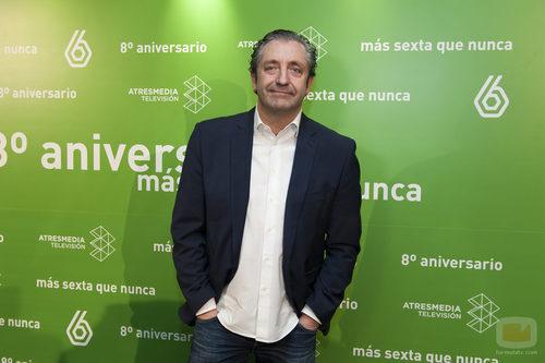 Josep Pedrerol en el 8º aniversario de laSexta