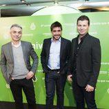 Marc Redondo, Luis Obiols y Adrián Cordero en el 8º aniversario de laSexta
