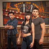 Javier Taboada, María Hinojosa y Christian Sánchez, actores de 'Dreamland'