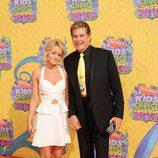 David Hasselhoff y Hayley Roberts en los Nickelodeon Kids' Choice Awards 2014