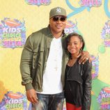LL Cool J y Nina en los Nickelodeon Kids' Choice Awards 2014