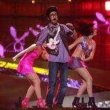 Rodolfo Chikilicuatre en el escenario de la final de Eurovisión 2008