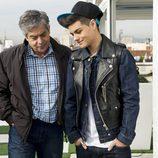 Abraham Mateo y Carlos Iglesias en 'B&b, de boca en boca'