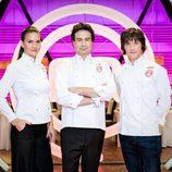 Jordi Cruz, Pepe Rodríguez y Samantha Vallejo-Nágera, jurado de 'Masterchef'