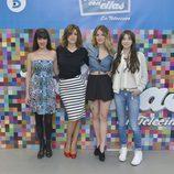 Cuatro de las cinco presentadoras de 'Hable con ellas' posan juntas