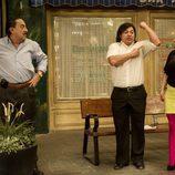 Óscar Reyes, Mariano Peña y Pepa Rus en 'Aída'