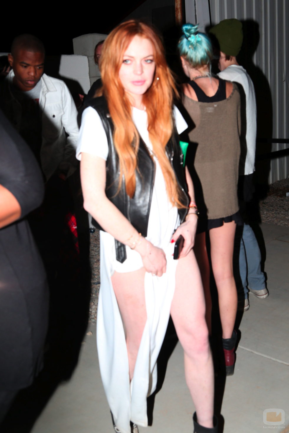 Lindsay Lohan en el Festival de Música Coachella 2014
