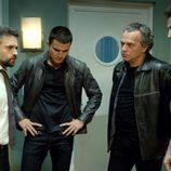 Pau Durá, Álex González, José Coronado y Fernando Gil en 'El Príncipe'