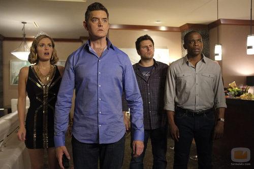 Juliet, Lassiter, Shawn y Gus en 'Psych'