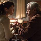 Paula Echevarría preocupada por el estado de salud de José Sacristán en 'Velvet'