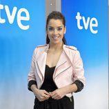 Ruth Lorenzo en la rueda de prensa previa a Eurovisión 2014