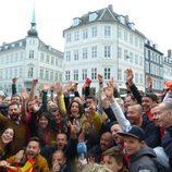 Ruth Lorenzo con los eurofans en Copenhague