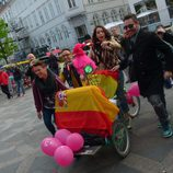 Ruth Lorenzo sobre una bicicleta en Copenhague
