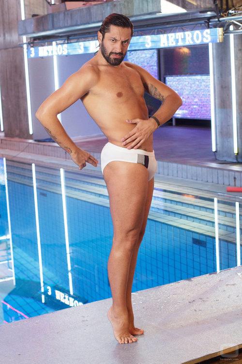 Rafael Amargo baila sobre el trampolín de '¡Mira quién salta!'