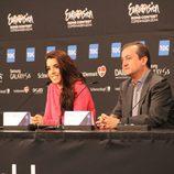 Ruth Lorenzo en la segunda rueda de prensa de Eurovision 2014